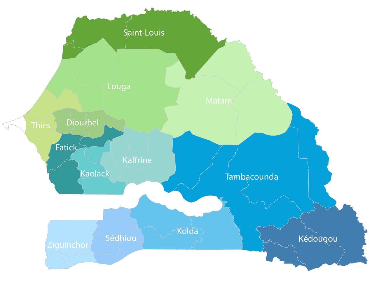 Nos systèmes d'alimentation en eau potable, par région